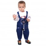 Denim Dungaree with T shirt for Kids