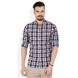 Celio Navy Checks Shirt